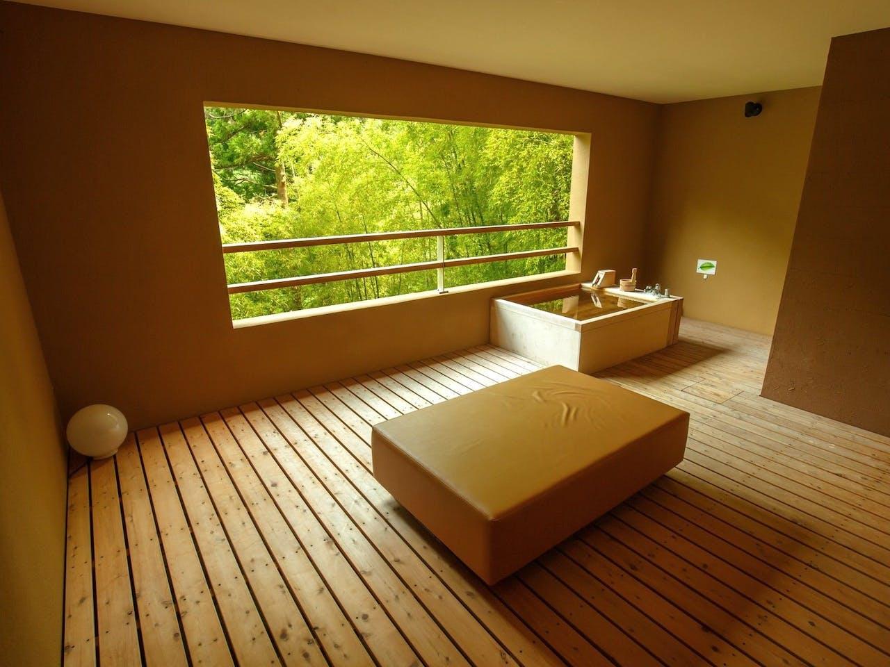 客室露天風呂の一例(207号室)