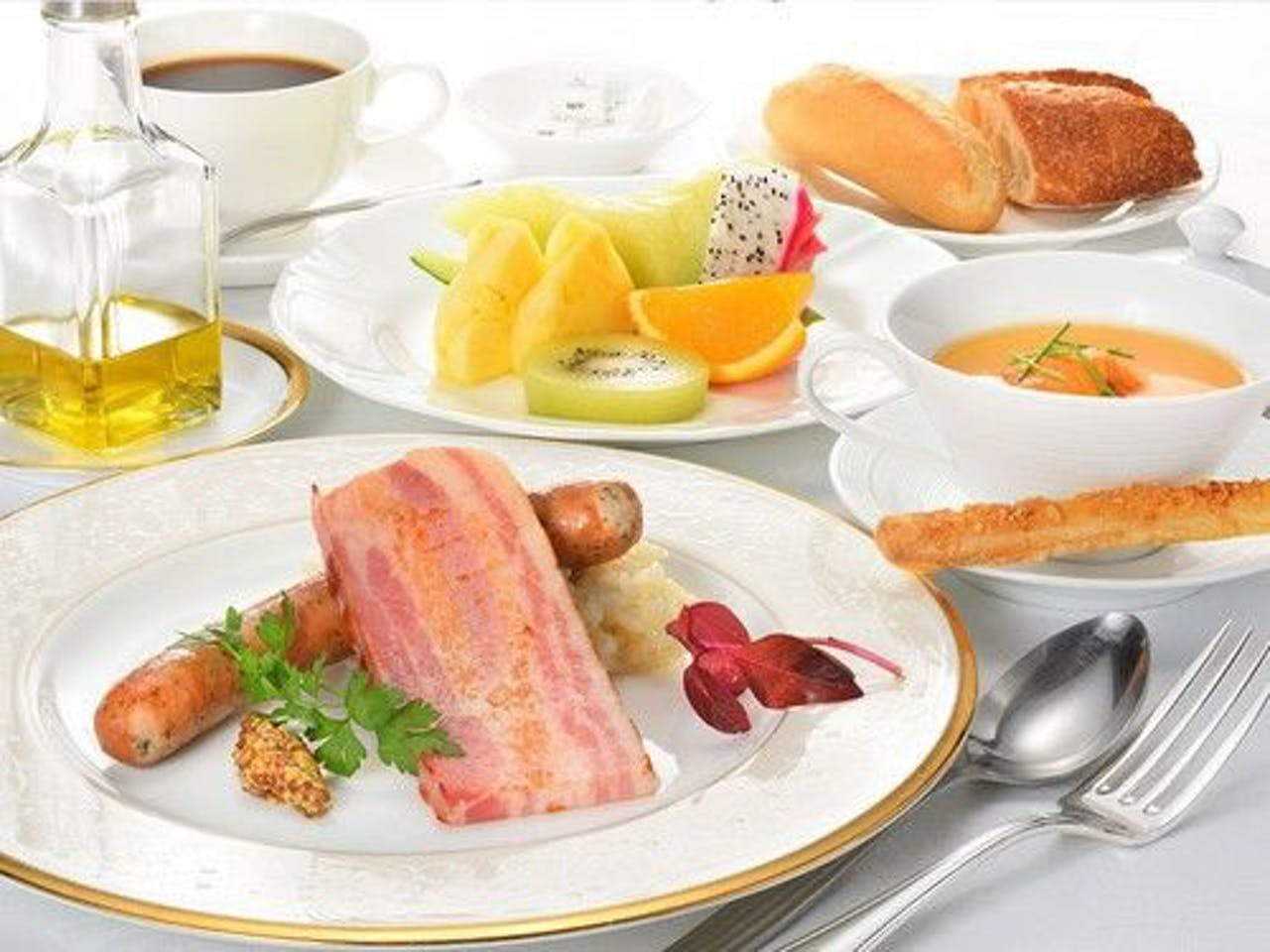 朝食一例。