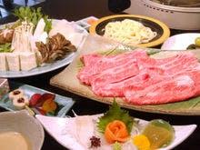 福島県産牛を使ったしゃぶしゃぶコース