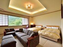 露天風呂付特別室【尾瀬】のベッドルーム