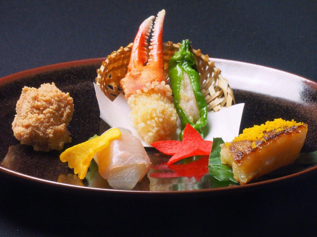 霜月料理(前菜一例)