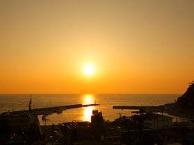 駿河湾の夕景