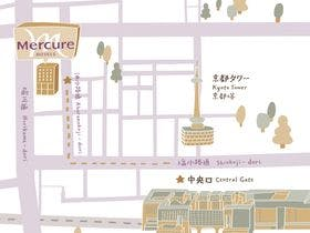 JR京都駅からのアクセス