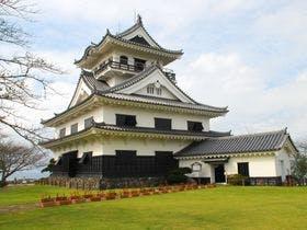 城山公園内の高台に建つ館山城