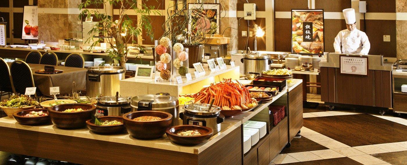 信州長野、上州群馬の美味しいを集めたシーズンバイキング(ズワイ蟹の提供は12/1~4/15までとなります)