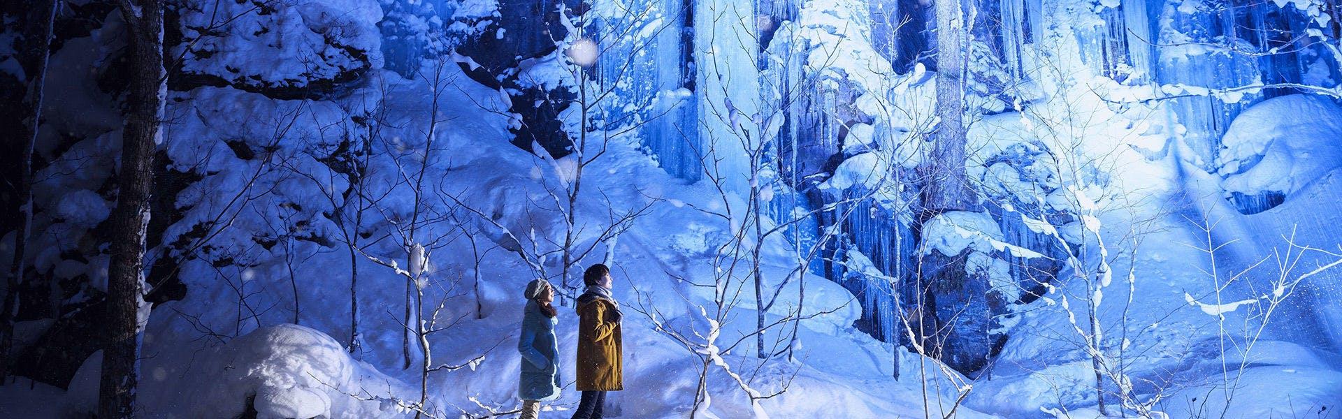 氷瀑ライトアップツアー