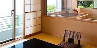 展望風呂付客室一例