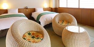 モダン和風ツイン 2~3名 5種類ある客室の一室 一例
