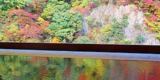 紅葉と水鏡。