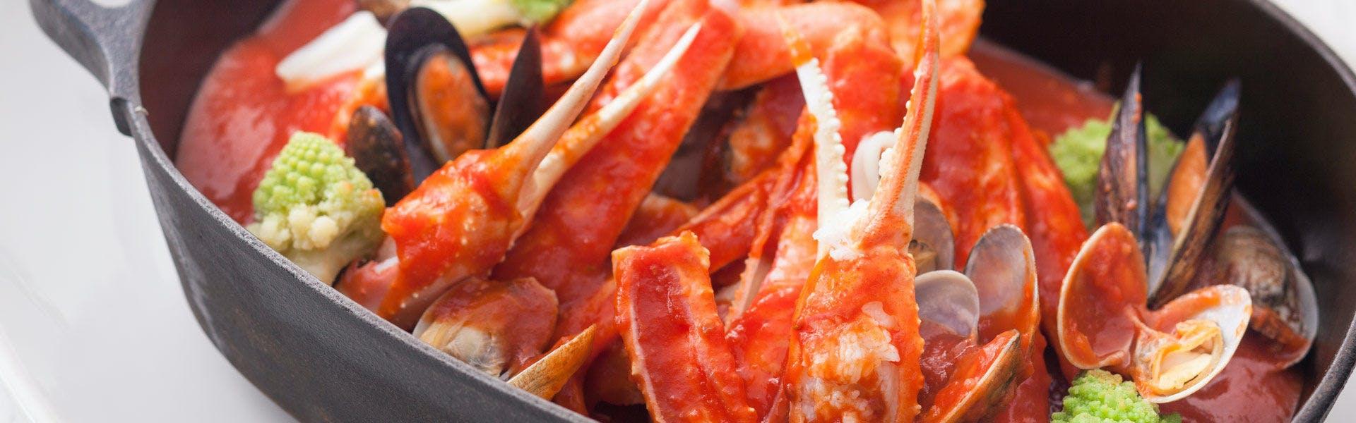 蟹のトマト鍋