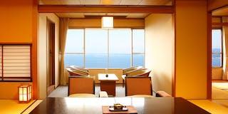 浜名湖を一望できる客室