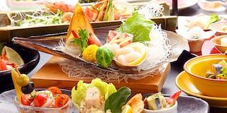夕食「和食膳+ハーフブッフェ(一例)」