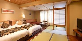 【花くらぶ‐らくわツイン・露天風呂付】お好きなときに、何度でも温泉が楽しめる贅沢なお部屋。