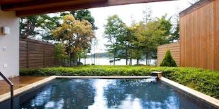 女神湖展望露天風呂(芹ケ沢温泉「天然」)