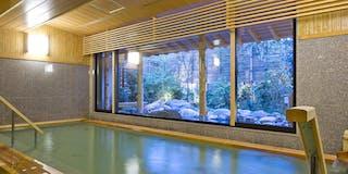 天然「嵐山温泉」石風呂(内湯)
