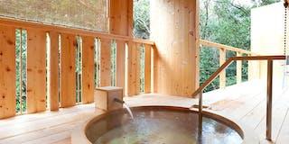 客室専用露天風呂「紫陽花」