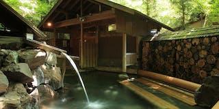 露天風呂「鹿のぞきの寝湯」