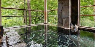 露天風呂 夏の絶景