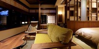露天風呂付メゾネットスイート離れ風客室「竜田」