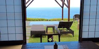 大海原や伊豆諸島の島々を眺める至福のひととき・・