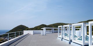 太平洋を一望する展望テラス