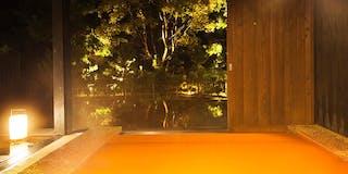 恵まれた泉質から金温泉の露天風呂