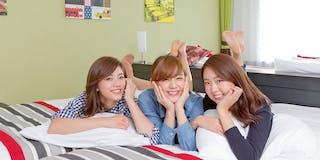 エリアNo1の客室平均平米数が自慢。グループでのお泊りでもゆったり寛げます。