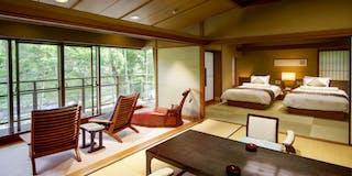 【向月亭】露天風呂付和室一例