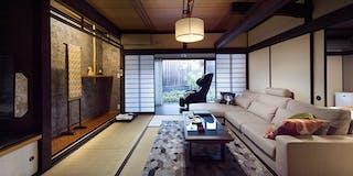 い棟の客室-離れ 露天風呂・庭園付-