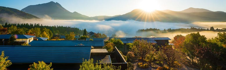 朝霧のみえる宿 ゆふいん花由