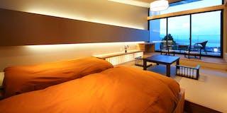 お部屋は35平米の和洋室となっております