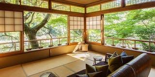 月橋(ツイン/メゾネット/ダブル):眺望は別格。広々としたお部屋が特徴の特別室