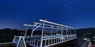 屋上テラスからの星空