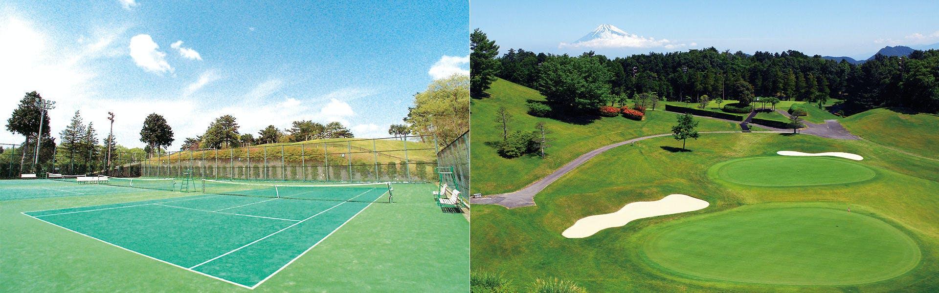 ゴルフコース、テニスコース