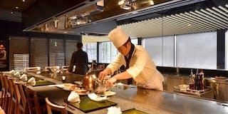 創作料理と鉄板焼き「竹彩」カウンター席