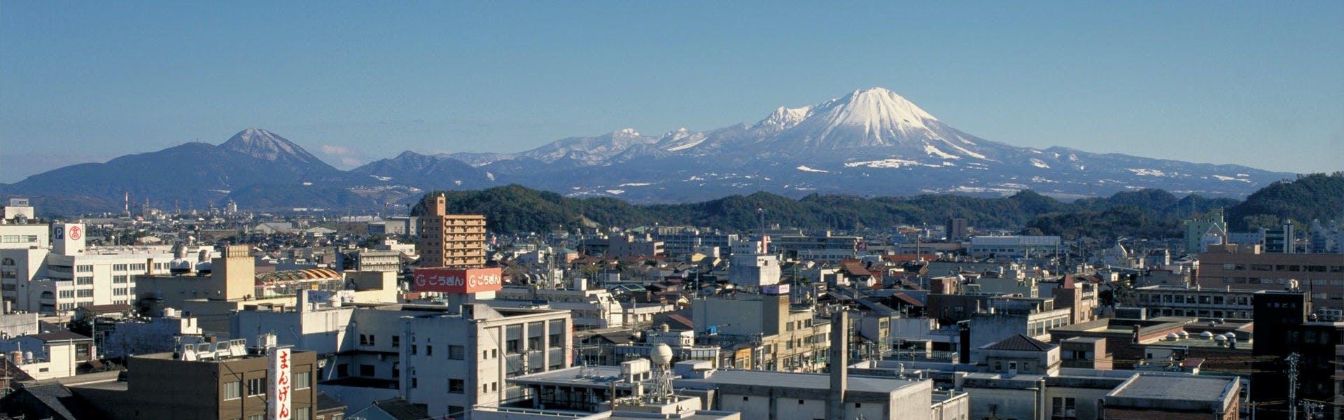 米子市内から大山