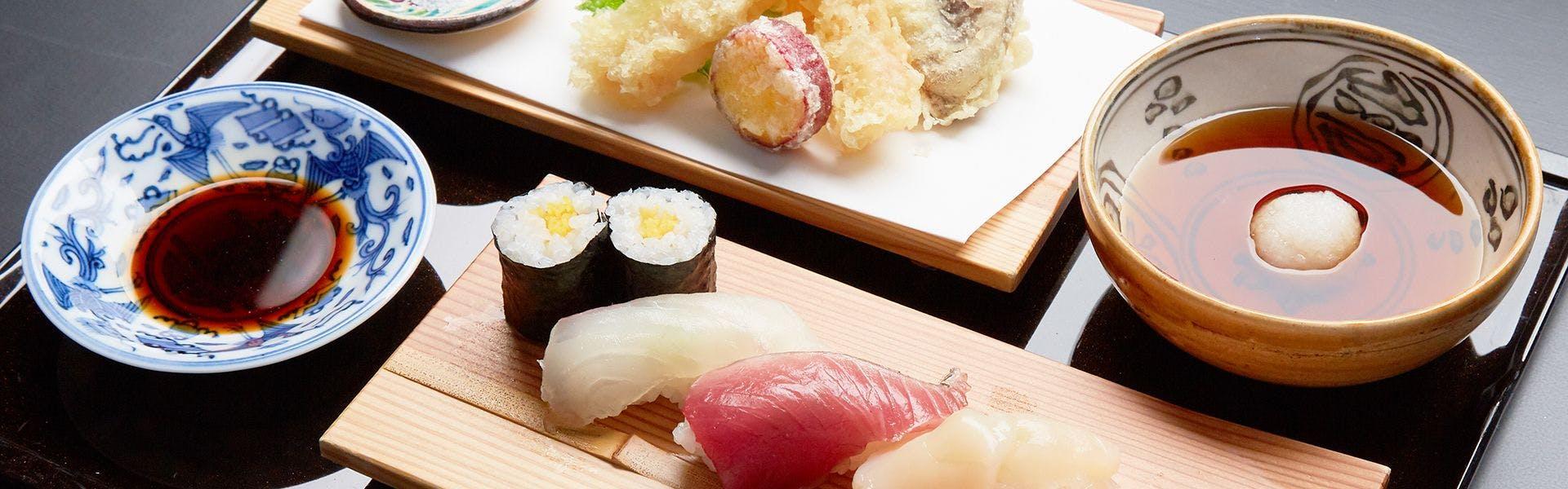 天ぷら寿司ご膳