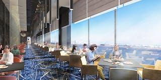 メインダイニング「イル・リストランテ トーキョー」 / 多摩川に面した解放感ある空間でのお食事