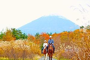 紅葉富士のホーストレッキング