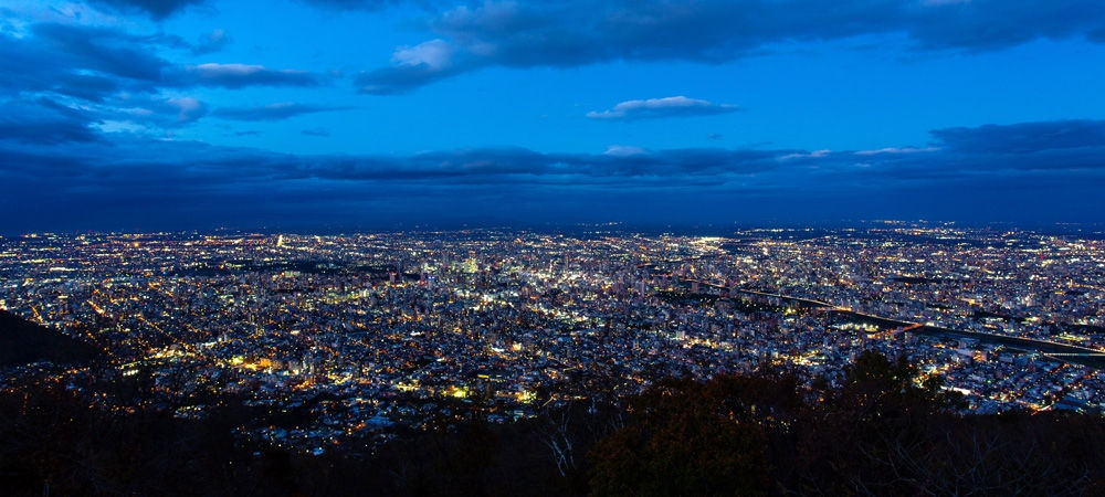 「日本新三大夜景」藻岩山から見る札幌市街