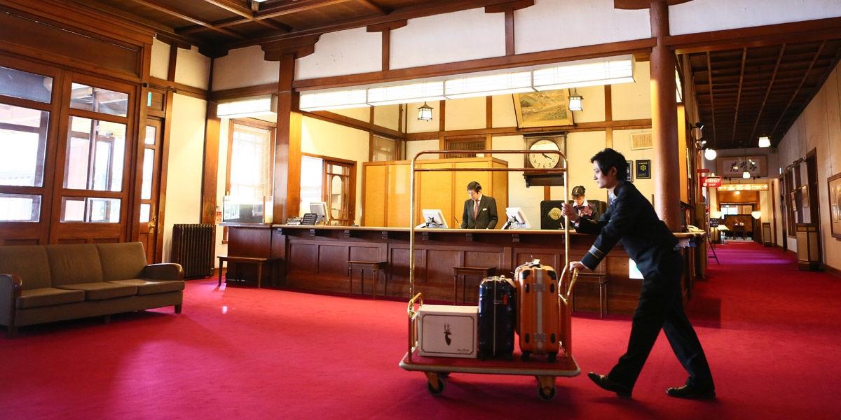 奈良ホテル フロント