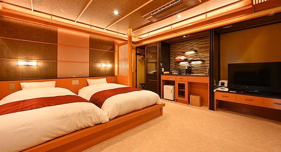びわ湖花街道 洋室(ツインベッドルーム)イメージ