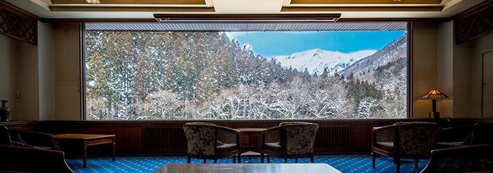 谷川岳を望む、癒しのスパリゾート 檜の宿 水上山荘(群馬県/谷川)