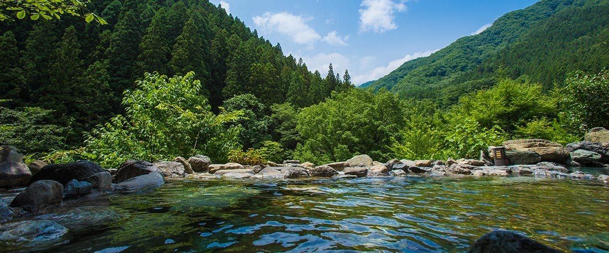 檜の宿 水上山荘 露天風呂