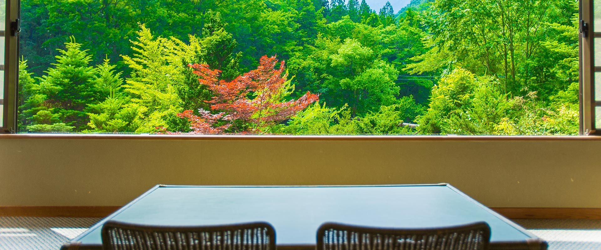 檜の宿 水上山荘 眺望