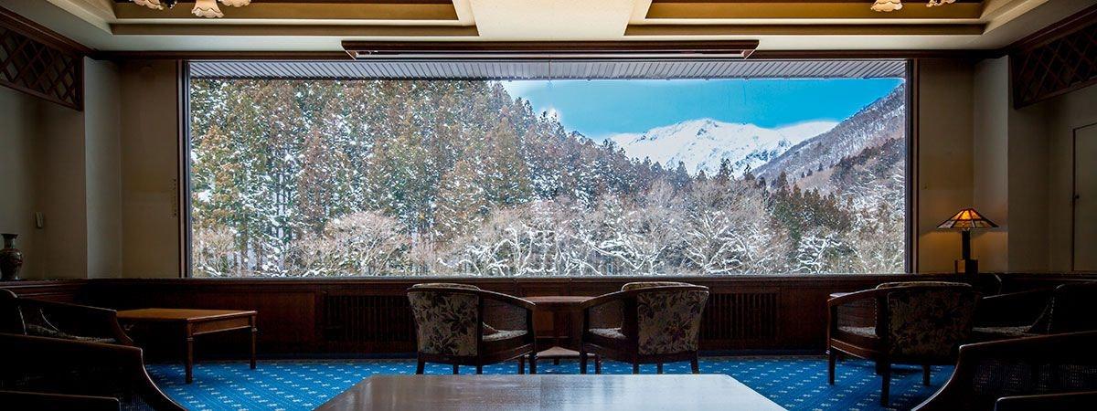 檜の宿 水上山荘 ラウンジ
