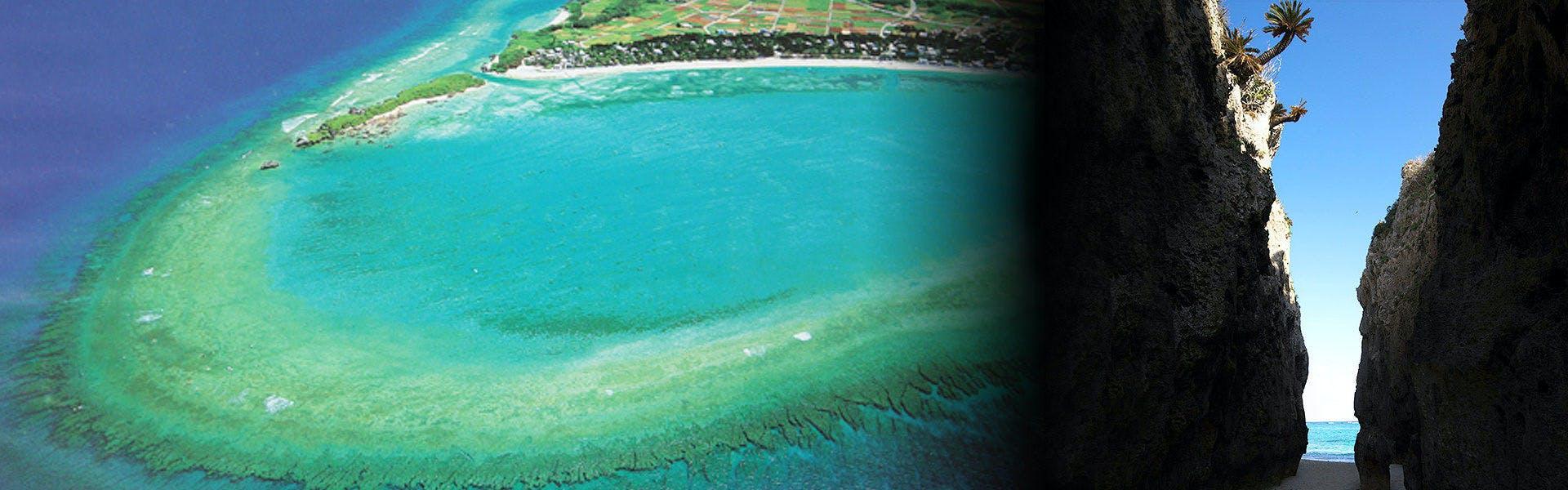 備瀬の珊瑚礁リーフ
