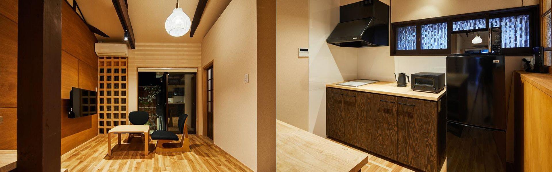 寝室、玄関
