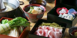 京都産のブランド豚を使用した【オリジナル】しゃぶしゃぶ