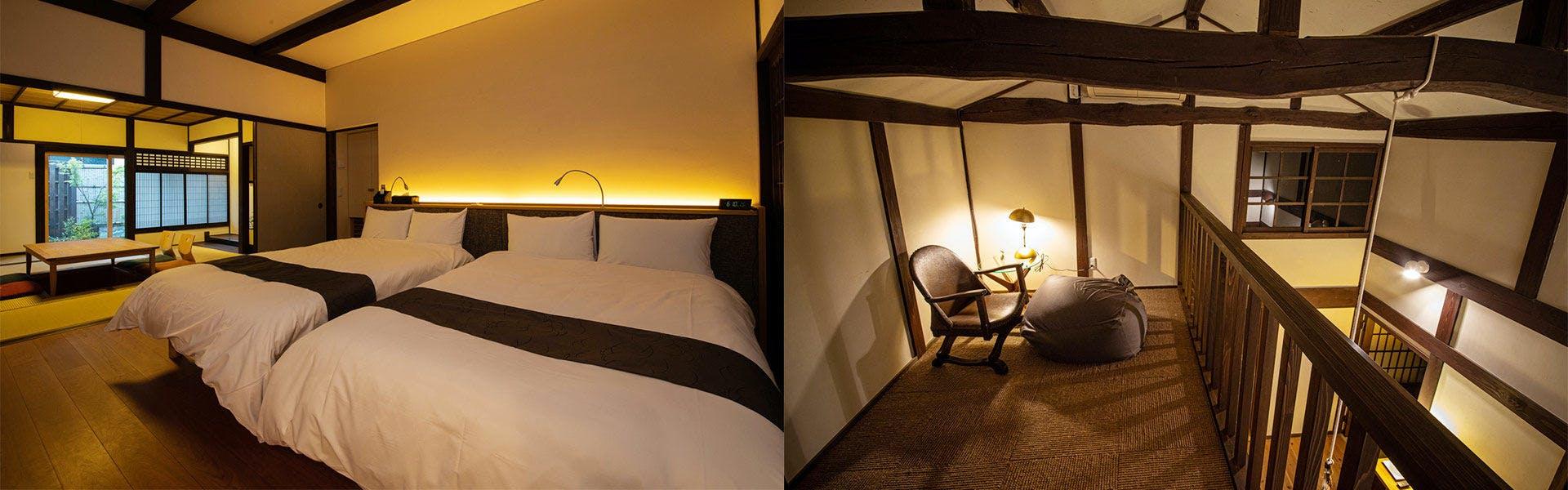 寝室一例・客室一例